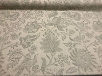 Birds Flying High Olivia Patina Linen Cotton Fabric by the yard
