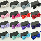 Men Classic Satin Necktie Bowtie Bow Tie Tuxedo Wedding Party Fashion Adjustable