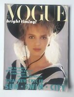 British VOGUE Magazine May 1986 Uma Thurman Cover, Gail Elliot