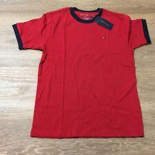 boys tommy hilfiger 12 14 medium short sleeve ringer t-shirt