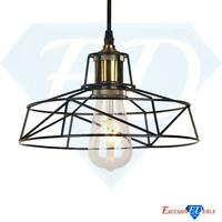 Industrial Vintage Wire Cage Ceiling Pendant Retro Lamp Light Shade Black Frame