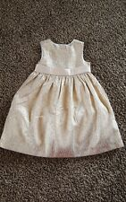 NWT Gymboree Holiday Shine Gold sleeveless Dress Size 12-18 months  w/ bloomers