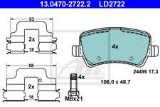 Ceramic Bremsbelagsatz, Scheibenbremse Hinterachse ATE 13.0470-2722.2