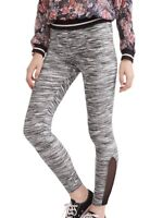 No Boundaries Super Soft Ankle Legging XXL 2XG (19) With Mesh Insert Grey Space
