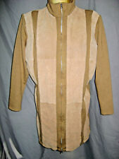 CAREN SPORT LEATHER COAT LONG LENTH  SZ XL SZ 1X
