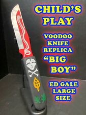 Childs Play Voodoo Knife Replica Big Boy Ed Gale Chucky Prop Aluminum And Wood