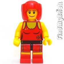 M167 Lego Custom Sport Female Minifigure Jeet Kune Do Taekwondo or Wrestler NEW