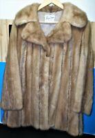 Authentic Vintage Lucas Furs Ladies Mink and Leather Fur Coat Size S EXCELLENT!