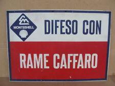 INSEGNA MONTESHELL RAME CAFFARO OLD SIGN EPOCA