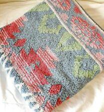 Vintage Ralph Lauren Southwestern Aztec Bath Towel 27x50 Blue Pastels Cotton USA