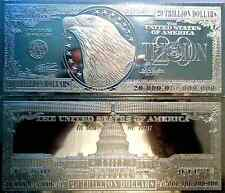DISCOUNTED $20 TRILLION PROOF 4oz SILVER CURRENCY BAR UNC + COA ~ FLAWS GRADE B
