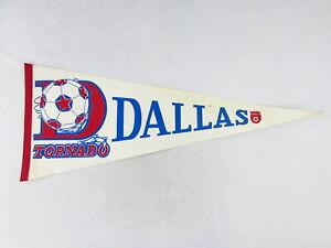 "Vintage NASL Dallas Tornado Pennant 1970's 12 1/2"" x 30"" Soccer"