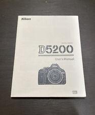 Nikon D5200 User's / Instruction Manual: Soft Cover Bigger Book