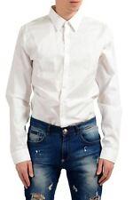 Gucci Hombre Blanco Larga Manga Ajustada Vestido Camiseta Us 17.5It 546af49fcbc