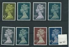 GB - MACHIN DEFINITIVES - HIgh Values. -HV57- eight values to £5.00 - UNM.MINT
