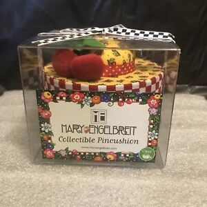 Mary Engelbreit Pincushion Hat Box - Cherries- New In Box