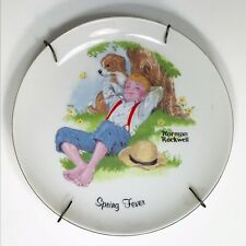 Norman Rockwell Spring fever Plate J.S.N.Y Made In Taiwan Ready To Hang