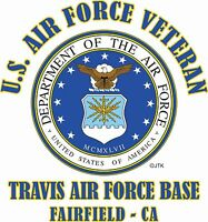"U.S.AIR FORCE VETERAN* EMBLEM"" NAME DROP US AIR FORCE BASE SHIRT"