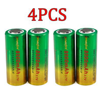 4Pcs 26650 8000mAh Li-ion Battery 3.7V  Rechargeable Battery For Flashlight toy