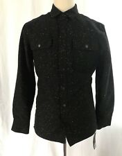 Marc Anthony Men Quilted Shirt Jacket Slim Fit Wool Blend -  Small