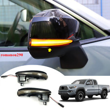 2X For Toyota Tacoma 2016-2020 LED Smoke Lens Sequential Flash Turn Signal Light