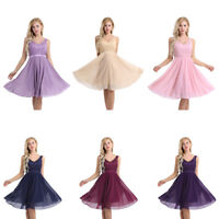Women Chiffon Lace Evening Party Formal Ball Gown Prom Bridesmaid  Elegant Dress
