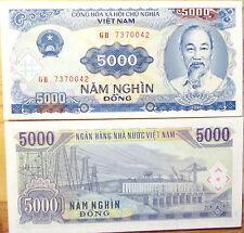 """BILLETE """"  VIETNAM    """" 5000 DONG   AÑO : 1991   UNC  PLANCHA"""