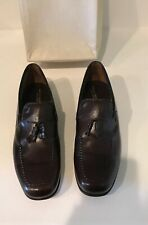 BROOKS BROTHERS MENS BROWN LEATHER TASSEL LOAFERS SIZE 10A NEW VINTAGE RARE