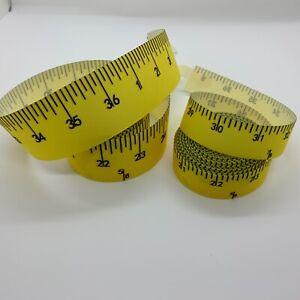 "Grosgrain Yellow Measuring Tape Ribbon 7/8"" 22mm 38mm"
