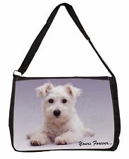 West Highland Terrier 'Yours Forever' Large Black Laptop Shoulder Bag S, AD-W9SB