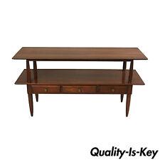 "Vtg Willett Transitional Mid Century Modern Cherry Wood Server Table Console 56"""