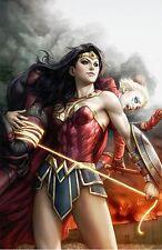Justice League vs. Suicide Squad allemand #1 Virgin-Variant artgerm Wonder Woman