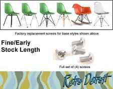 4x Eames Herman Miller Shell Chair Screws Early Fine Thread Steel STANDARD