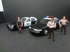 Greenlight CHP '89 Chevy Caprice & '92 Crown Vic CA Highway Patrol + 3 cops