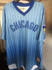 NWT CHICAGO CUBS MAJESTIC COOPERSTOWN COLLECTION COOL BASE PINSTRIPE JERSEY XL