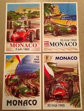 Monaco Grand Prix Postcard Set#10 Find! 1st On eBay Car Poster. Own It!
