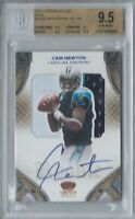 CAM NEWTON 2011 CROWN ROYALE RPA JERSEY PATCH AUTO RC #/50 BGS 9.5 10 GEM MINT