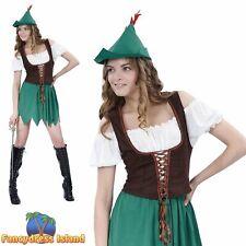 FAIRYTALE BUDGET ROBIN HOOD - Size 10-14 - womens ladies fancy dress costume