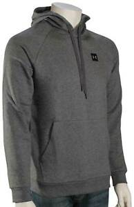 Under Armour Rival Pullover Hoody - Charcoal Light Heather / Black - New