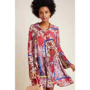 New Anthropologie Arabella Patchwork Tunic by  Dhruv Kapoor  $198 SMALL