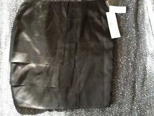 Skirt Black Tiered Front Straight Silk Size 14 Harry Who With Tags