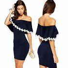 Women Sexy Summer Bandage Bodycon Lace Evening Party Cocktail Short Mini Dress