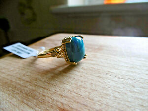 Missionary Auction Incredible Chalcedony & Quartz Ring Size S