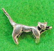 10Pcs. Tibetan Silver 3D CAT Kitty Charms Pendants Earring Drops D36