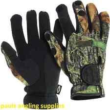NGT Neoprene Fishing Gloves i Camo Folding Fingers for Shooting Hunting