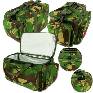 Carp Coarse Fishing DPM Camo Insulated Tackle Bait Carryall Bag Holdall + Strap
