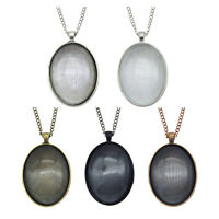 Handmade Necklace Pendant Bezel Frame with Oval Glass Cabochon 40x30mm Jewellery