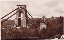 BRISTOL - CLIFTON SUSPENSION BRIDGE B&W POSTCARD