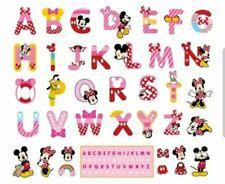Disney Alphabet Mickey Minnie Mouse Mini Wall  Sticker Home Kids Room Nursery UK