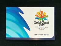 2018 GOLD COAST COMMONWEALTH GAMES $1 & $2 7 UNC COIN SET IN FOLDER